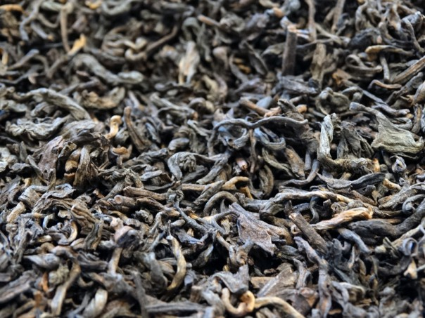 Dark black tea Pu Er from Yunnan, China