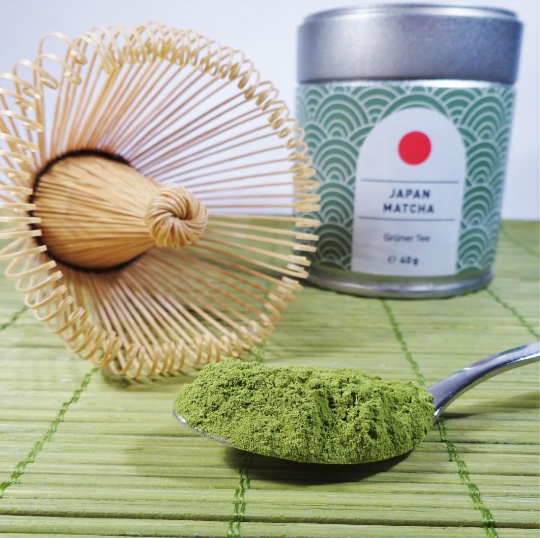 Japan, Ceremonial green tea in fine powder