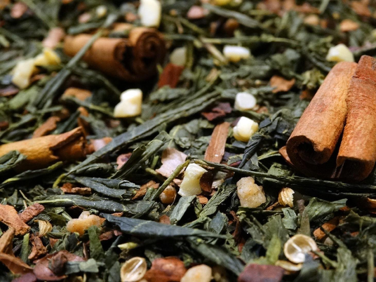 thé de noel thé vert alpina aromatisé par Tea & Cie acheter du thé