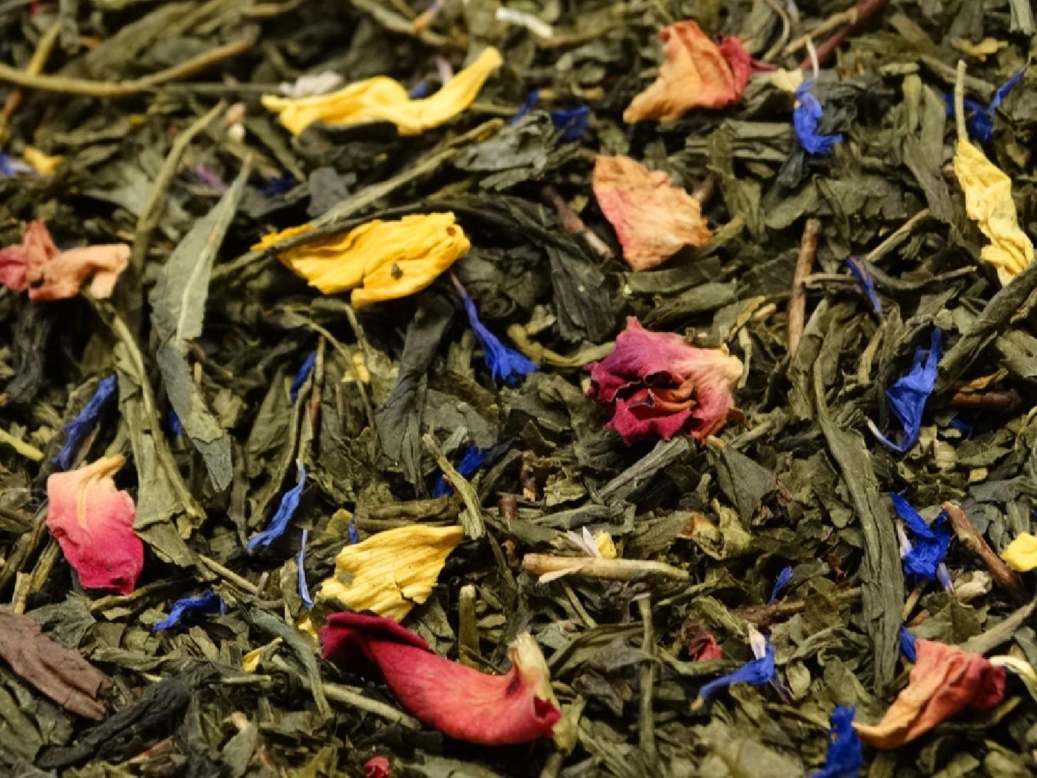 thé vert aromatisé à la mangue mange mambo par tea & cie www.teacie.com