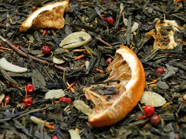 thé de noel vert amandes oranges épices par Tea & Cie comptoir de thé à Vannes 56000