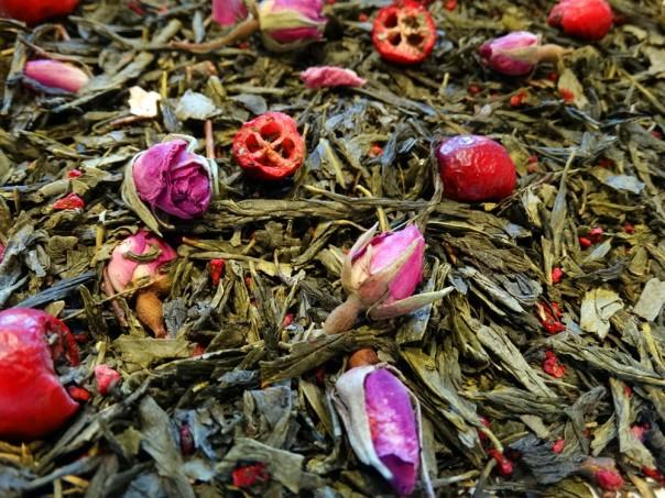 thé vert aromatisé pink fantasy comptoir de thé Tea et Cie à Vannes
