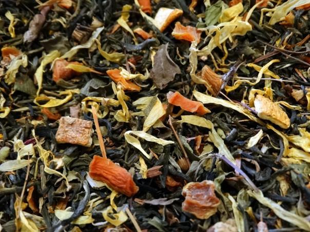 thé vert aromatisé mirabelle pour mon ange par Tea & Cie maison de thé de référence