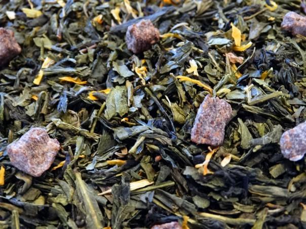 utopie thé vert à la poire par Tea et Cie boutique de thé  vrac aromatisé en ligne