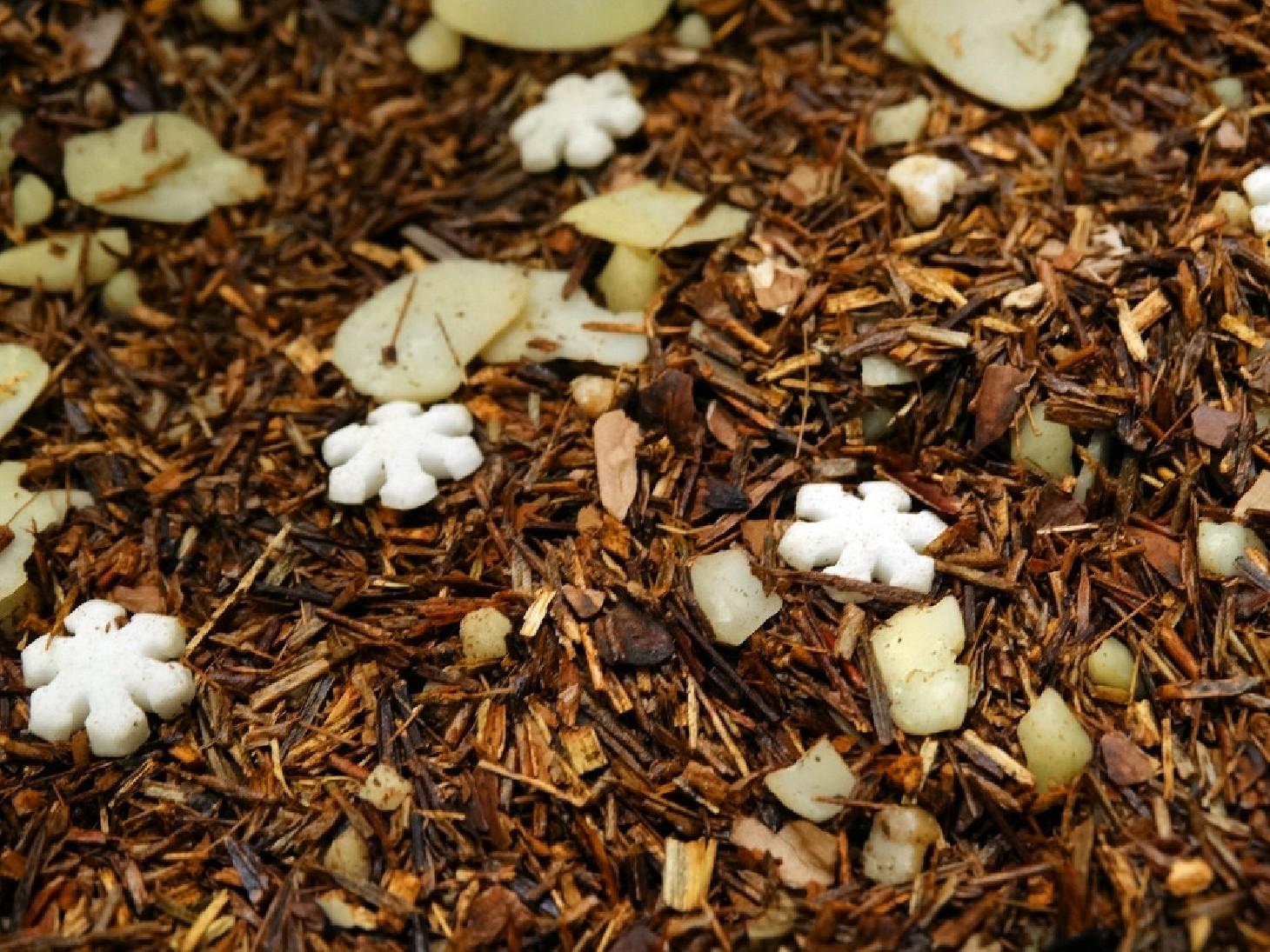 Rooibosh, Hazelnuts, cocoa, almonds, sugar stars