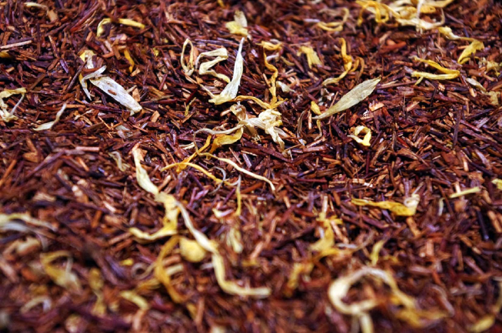 infusion sans théine rooibosh pêche fruit Tea & Cie