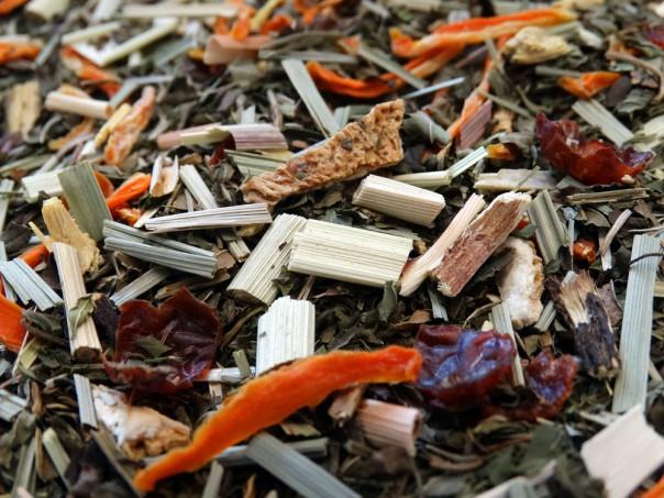 infusion de plantes fruits sans théine menthe citronelle le soir par tea & cie maison de commander du thé www.teacie.com