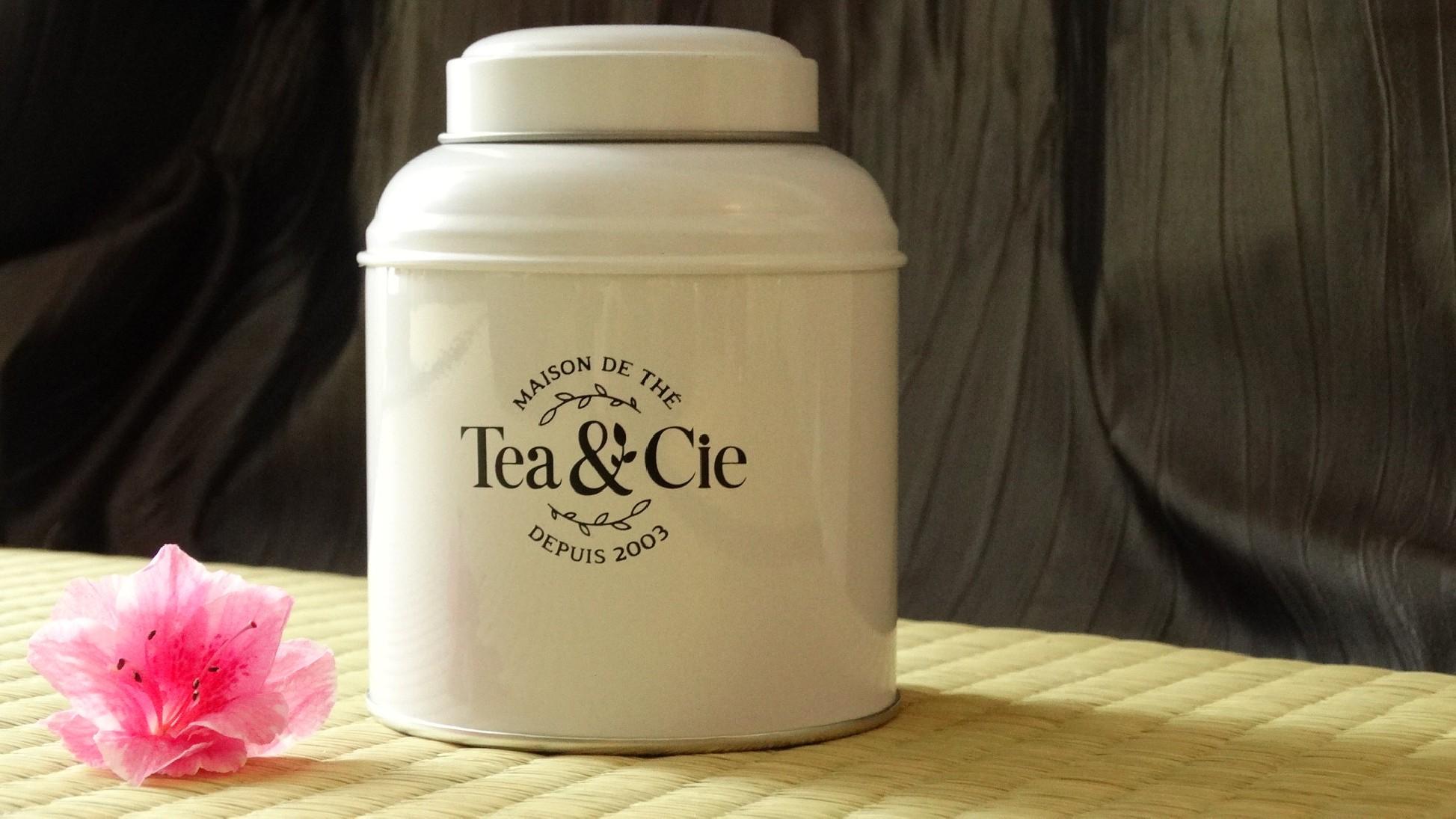 la petite boite jaune blanc Tea & cie www.teacie.com
