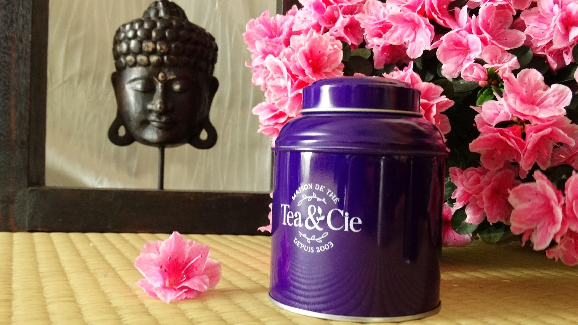 la petite boite jaune violette Tea & Cie www.teacie.com