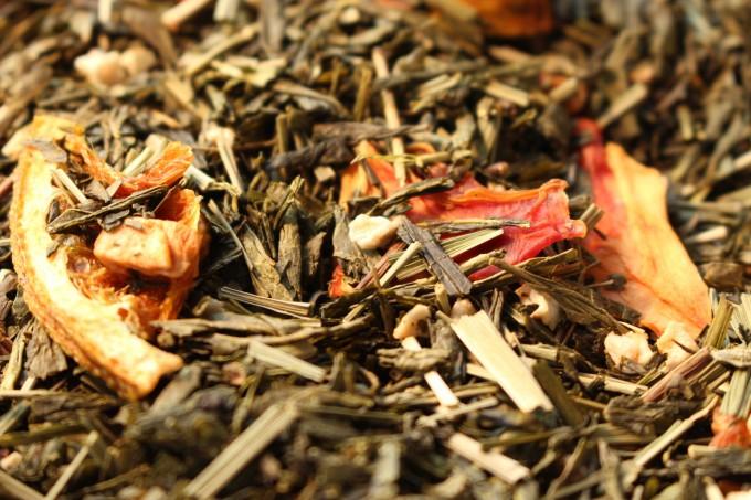 thé vert aromatisé ipanema fruits de la passion orange par tea et cie comptoir de thé premium