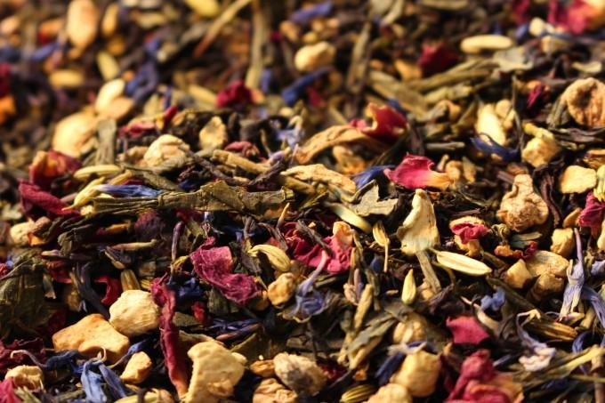 thé vert et noir premium aromatisé bergamote épices gingembre