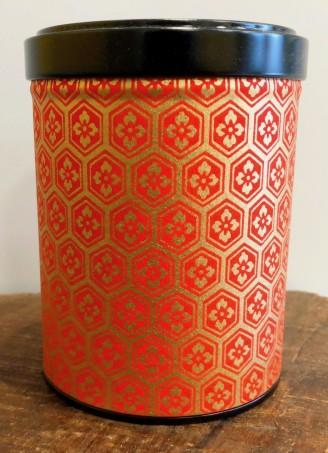 Boite à thé 100G papier & métal double couvercle or et rouge maison de thé Tea & Cie Vannes Bretagne