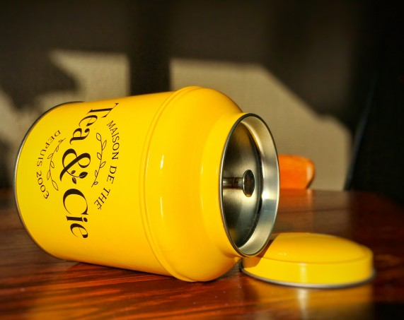 boite à thé Tea&Cie petite boîte jaune