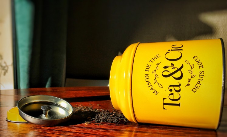 boite à thé Tea&Cie la petite boîte jaune