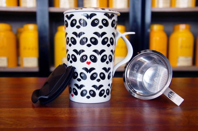 Mug Jumbo Panda thé infuseur