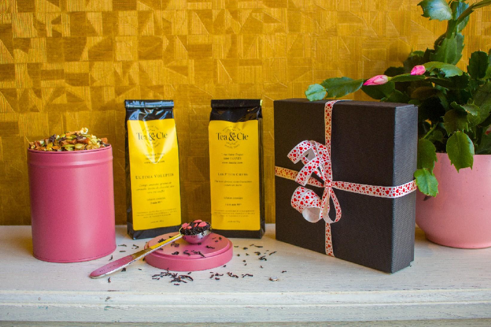 Coffret St Valentin, 1 thé, 1 infusion, 1 cuillère dose - Maison de thé Tea&Cie