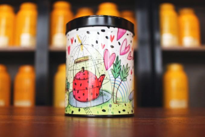 Boîte métal à thé d'artiste - Maison de thé Tea&Cie