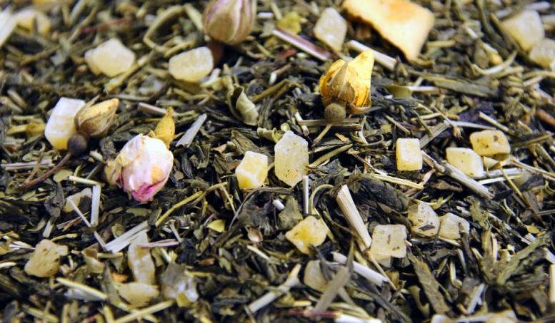 AYUBOWAM thé vert aromatisé Cactus, Mangue ananas - Maison de thé Tea&Cie