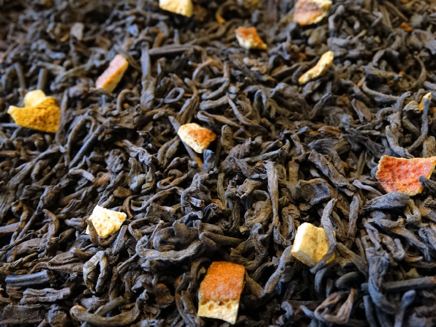 Pu ehr tea, orange peels