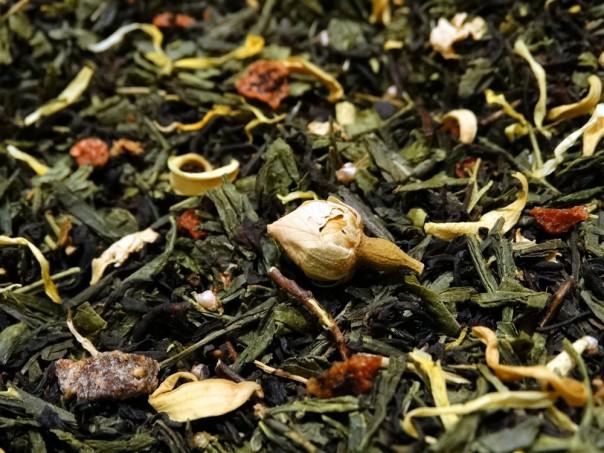 thé noir et vert aromatisé escapades par tea & cie comptoir de thé en ligne